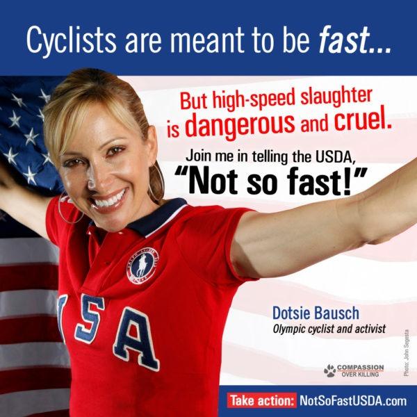 Dotsie Bausch Standing Up for Factory Animals