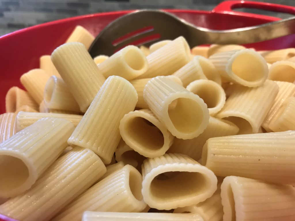 Pasta that is ready to be eaten