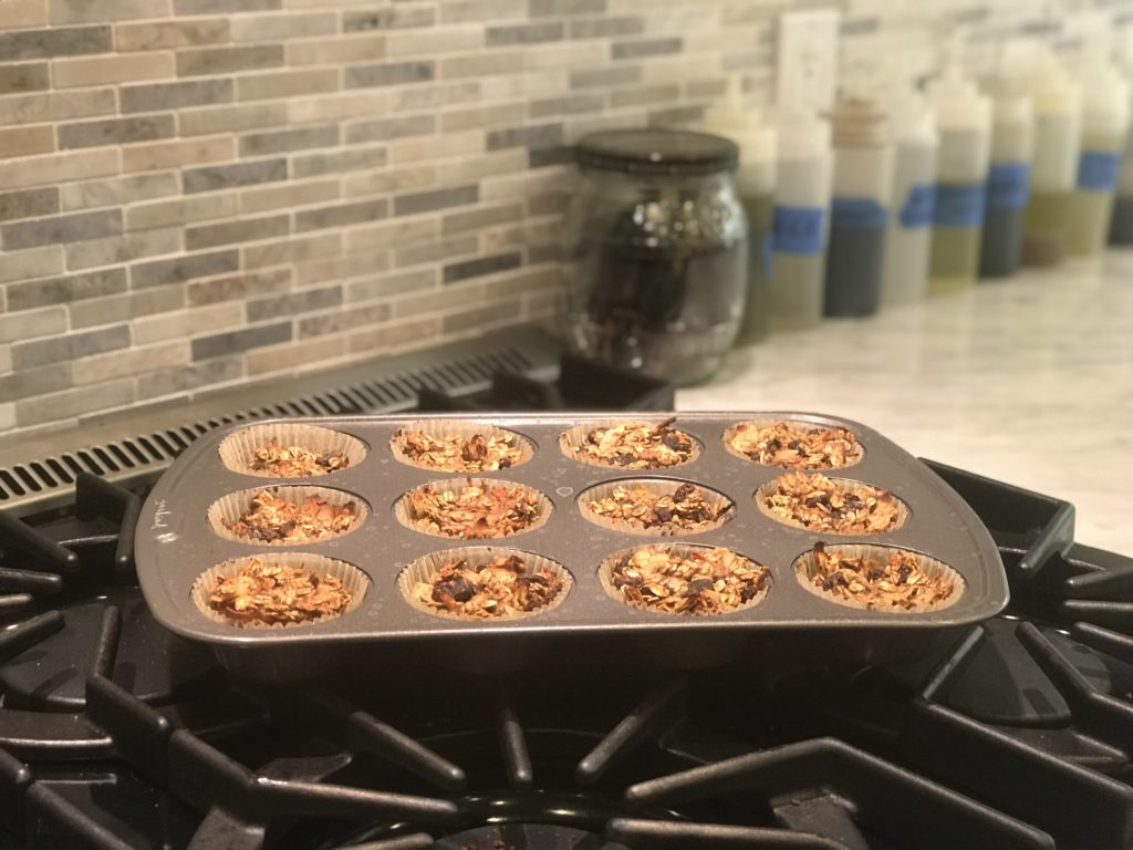 The Muffins are ready to go into the oven