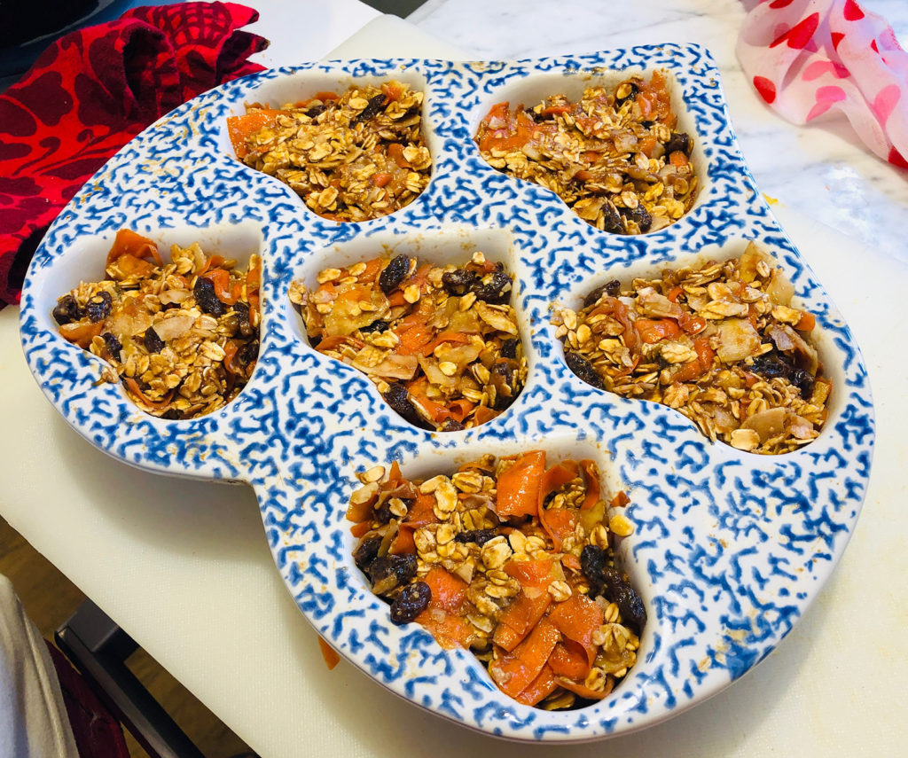 Banana Oatmeal Pumpkin Coconut Carrot Raisin Muffins