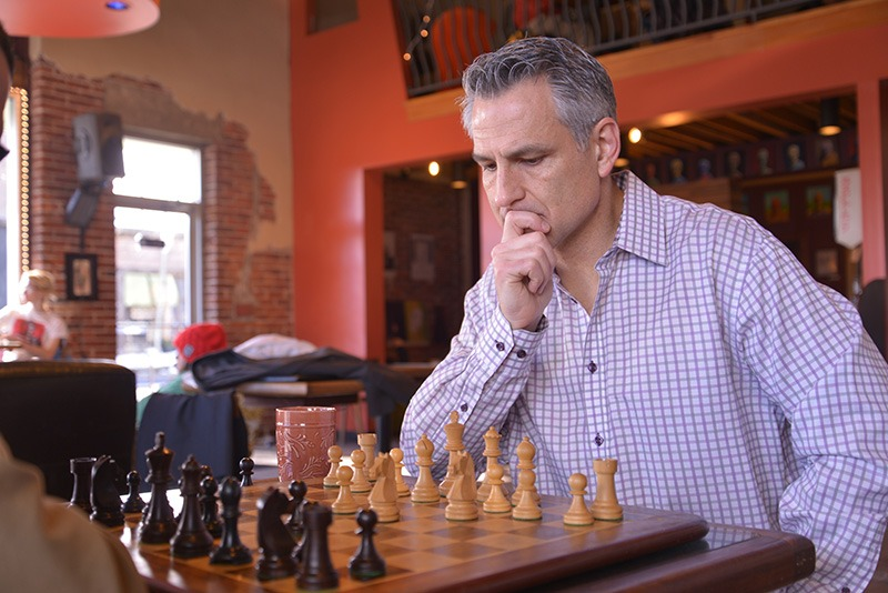 Brad Barbera playing chess