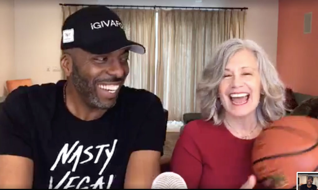 Elysabeth Alfano and John Salley on Awesome Vegans Podcast / Video Series