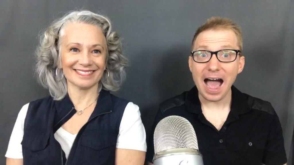 Ron Placone with Elysabeth Alfano on AWesome Vegans