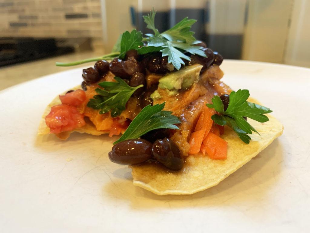 sweet potato black bean taco