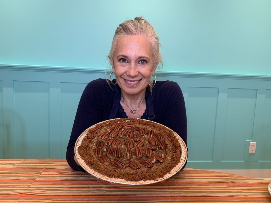 Elysabeth Alfano the Silver Chic Chef with Pecan Date Pie