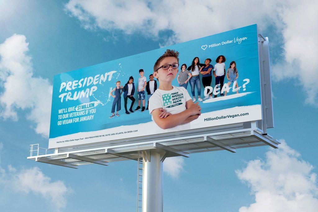 Vegan Evan Trump billboard