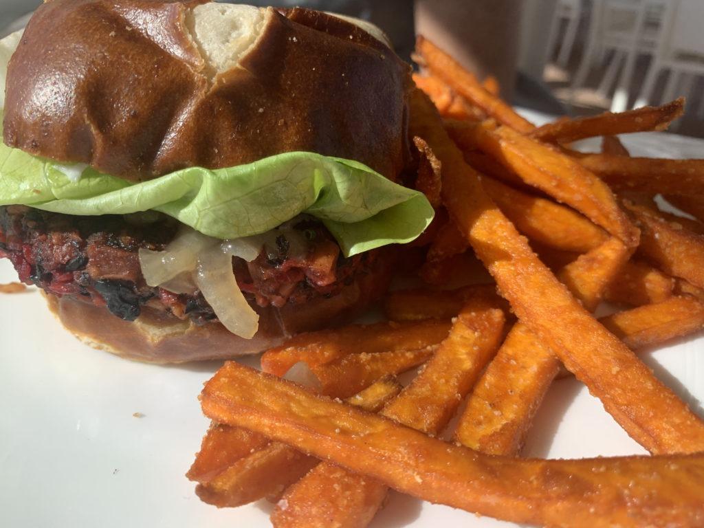 Leslie Durso Vegan Hamburger