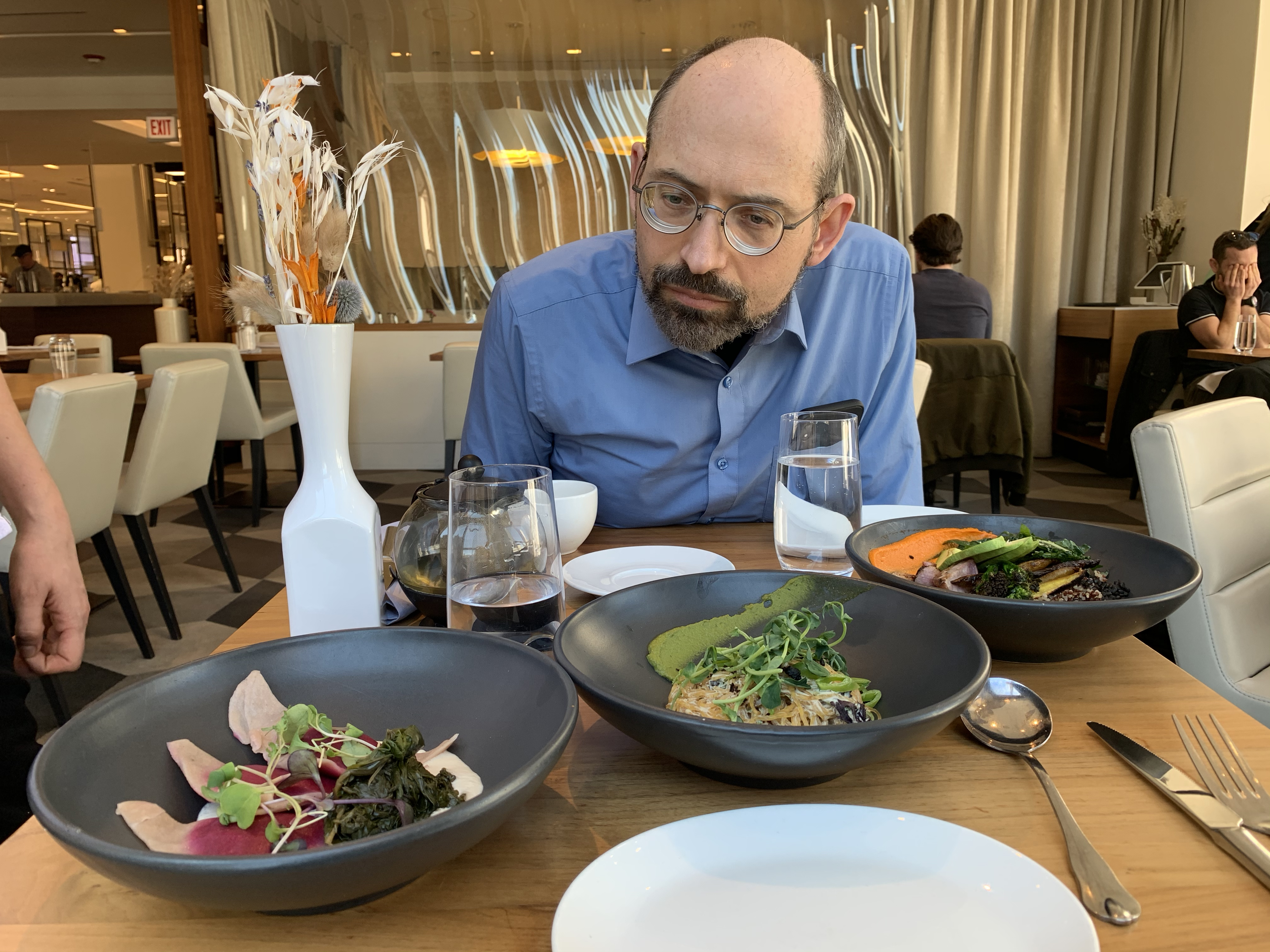 Dr. Michael Greger at Althea Restaurant